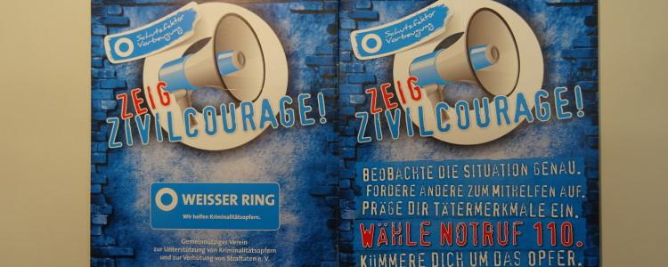 Plakat Weißer Ring