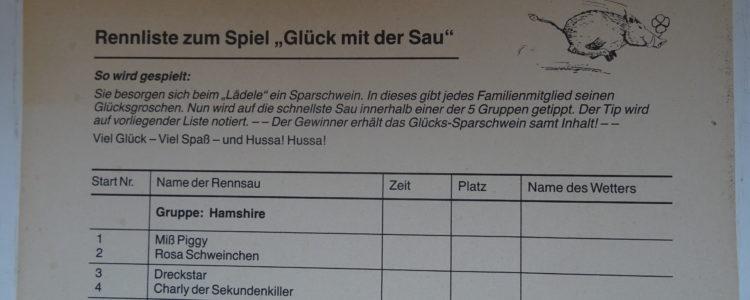 Wettliste Kappler Saurennen