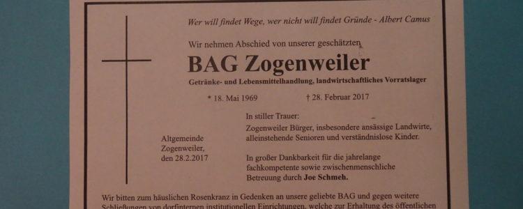 BAG Zogenweiler