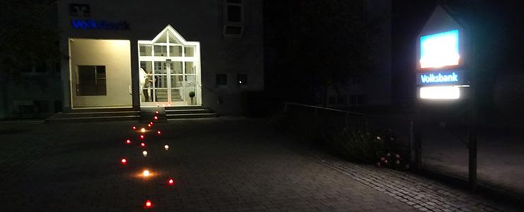 Leuchtspur Volksbank Altshausen