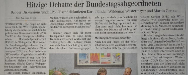 Debatte der Bundestagsabgeordneten - Schwäbische Zeitung
