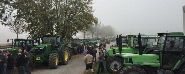 traktor protest