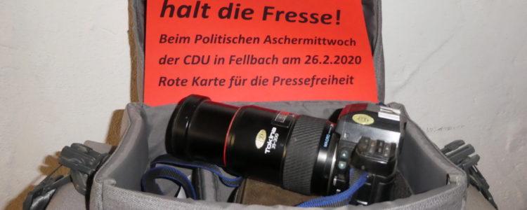 Freie Presse halt die Fresse